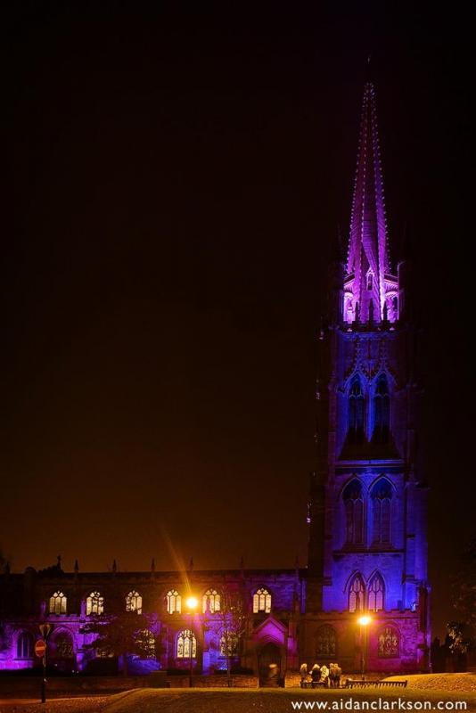 St James Church 'Light it Purple' for Pancreatic Cancer Awareness