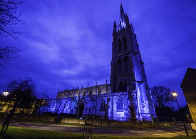 GRS Lights It Blue